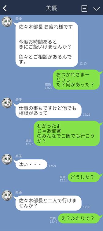 部下からLINE1